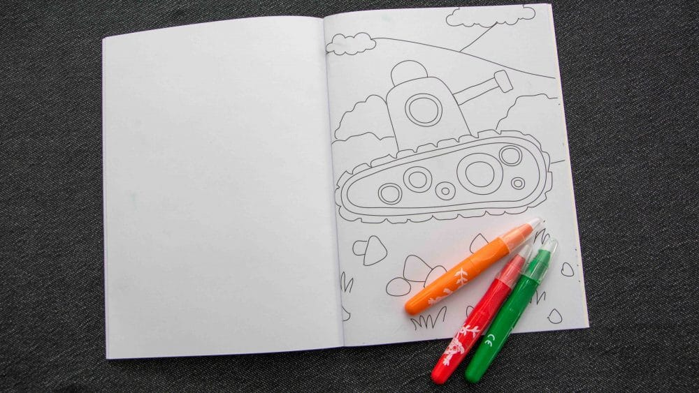Was bitte macht ein Panzer im Malbuch? - Mannpluskind